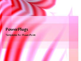 PowerPlugs: PowerPoint template with a number of red lines with pinkish background