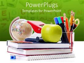 PowerPlugs: PowerPoint template with a number of registers and an apple on the top