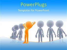 PowerPlugs: PowerPoint template with a number of same people with a different one in the middle