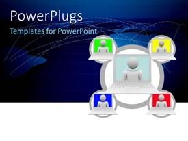 PowerPlugs: PowerPoint template with a number of screens with a bluish background