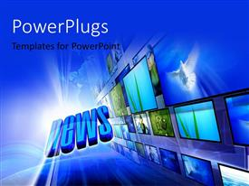 PowerPlugs: PowerPoint template with a number of screens with the word news