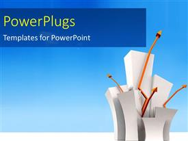 PowerPlugs: PowerPoint template with a number of shapes with bluish background and place for text
