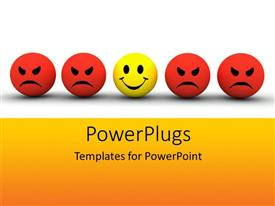 PowerPlugs: PowerPoint template with a number of smileys in a line