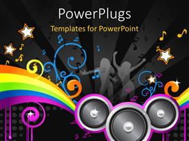 PowerPlugs: PowerPoint template with a number of speakers along with music signs