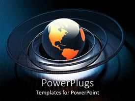 PowerPlugs: PowerPoint template with a number of spirals around the globe