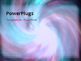PowerPlugs: PowerPoint template with a number of spirals with bluish background