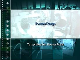 PowerPlugs: PowerPoint template with a number of squares with a professional background