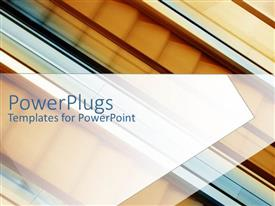 PowerPlugs: PowerPoint template with a number of stairs in  the background