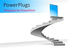 PowerPlugs: PowerPoint template with a number of stairs with a door at the end