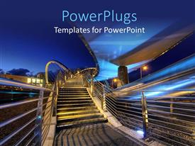 PowerPlugs: PowerPoint template with a number of stairs going upwards with bluish background