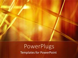 PowerPlugs: PowerPoint template with a number of strings with orange background