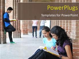 PowerPlugs: PowerPoint template with a number of students in the university