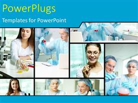PowerPlugs: PowerPoint template with a number of surgeons with bluish background