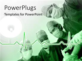 PowerPlugs: PowerPoint template with a number of surgeons and a heartbeat line
