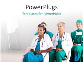 PowerPlugs: PowerPoint template with a number of surgeons with white background