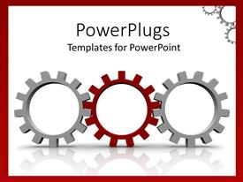 PowerPlugs: PowerPoint template with a number of symbols together depicting movement mechanism with white background