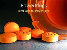 PowerPlugs: PowerPoint template with a number of tablets with blackish background
