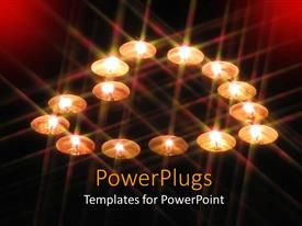 PowerPlugs: PowerPoint template with a number of tea-lights forming the shape of a heart