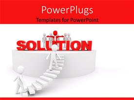 PowerPlugs: PowerPoint template with a number of team workers with white background