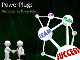 PowerPlugs: PowerPoint template with a number of things connected to each other for success