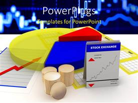PowerPlugs: PowerPoint template with a number of things related to stock market with technology related background