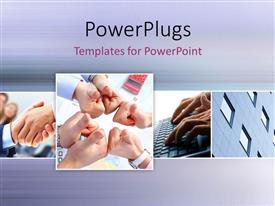 PowerPlugs: PowerPoint template with a number of thumbs up with greyish background and place for text