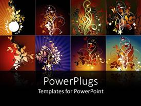 PowerPlugs: PowerPoint template with a number of various quality designs in the background