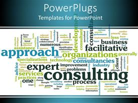 PowerPlugs: PowerPoint template with a number of various texts being displaced and white background