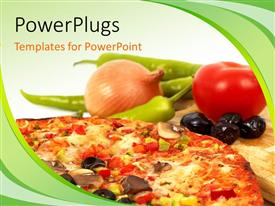 PowerPlugs: PowerPoint template with a number of vegtables and a pizza