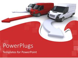 PowerPlugs: PowerPoint template with a number of vehicles all going in different directions