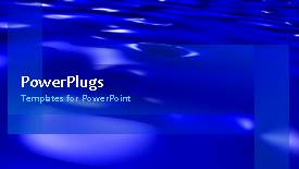 PowerPlugs: PowerPoint template with a number of waves with a bullet point - widescreen format
