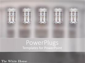 PowerPoint template displaying a number of windows with grayish background
