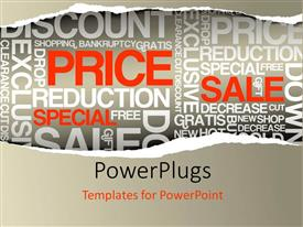 PowerPlugs: PowerPoint template with a number of words in the background