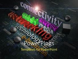 PowerPlugs: PowerPoint template with a number of words in the background and place for text