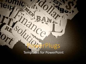 PowerPlugs: PowerPoint template with a number words in the background with place for text