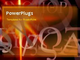 PowerPlugs: PowerPoint template with a number of words with brownish background