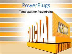 PowerPlugs: PowerPoint template with a number of words with grey and yellowish background