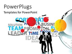 PowerPlugs: PowerPoint template with a number of words with professionals at front