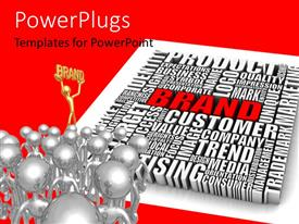 PowerPlugs: PowerPoint template with a number of words related to business and a lot of people