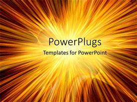PowerPoint template displaying a number of yellowish lines with a place for text
