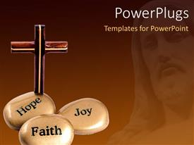 PowerPlugs: PowerPoint template with a number of zen stones and a holy cross