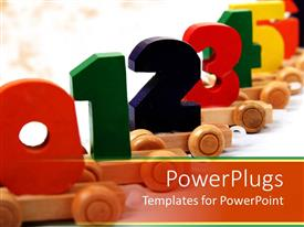 PowerPlugs: PowerPoint template with numerical order k one through twelve education Child development colorful numbers