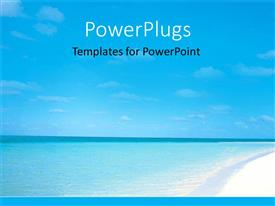 PowerPlugs: PowerPoint template with ocean vacation on island blue sea and sky