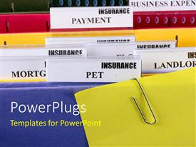 PowerPlugs: PowerPoint template with office folder with organized files and file pins