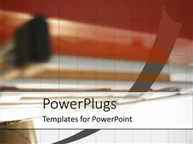 PowerPlugs: PowerPoint template with the office with its reflection in the background