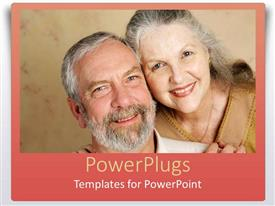 PowerPlugs: PowerPoint template with an old aged couple with grey hair showing love