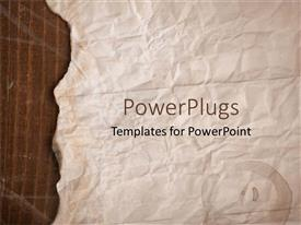 PowerPlugs: PowerPoint template with old brown paper with slightly burnt edges