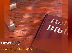 PowerPoint template displaying one minute video of biblical words and a cross