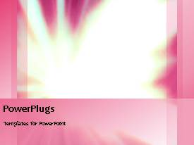 PowerPoint template displaying one minute video of pink abstract design on black background