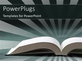 PowerPlugs: PowerPoint template with open book with rays in background